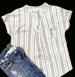 White & navy tunic size medium